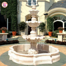 1Premium Outdoor White Marble Water Fountain For Outdoor