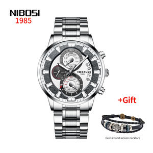 NIBOSI 2382 watch top luxury brand quartz watch men's casual quartz watch Ultra-thin 2020 Relogio Masculino