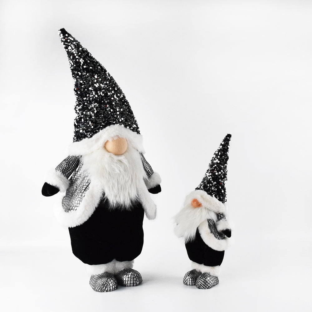 2021 Gnomes 2021 Sequin Gnome Nordic Naviad Crafts Christmas Gnome Luxury Gifts Felt Dolls Decoration Fabric Ornament With Super Soft Velvet