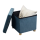Folding Stool Velvet Folding Storage Box Collapsible Decorative Cube Portable Storage Stool Vintage Style Ottoman