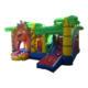 Family used children funny backyard inflatable bouncy jumping castle with pool