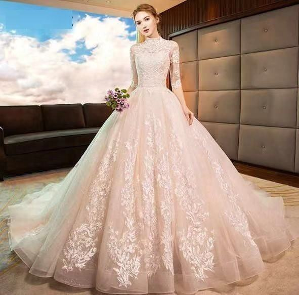 Wholesale White Wedding Dress Bridal Gown Ball Gown Wedding Dress 2020 cheap real photo picture factory