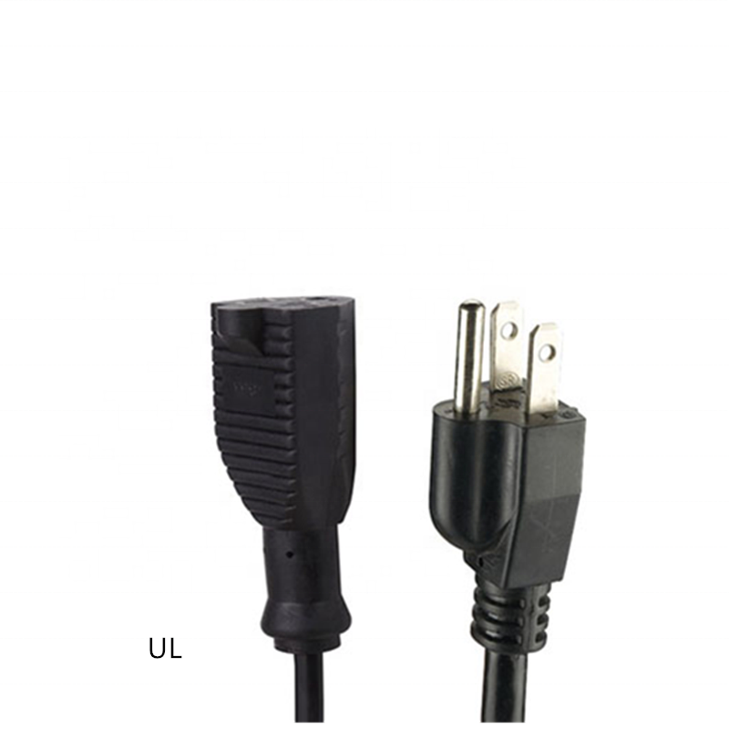 3 prong Single Outlet US Extension Cords 5-15 15A 125V NEMA 5-15P to NEMA 5-15R power extension cord