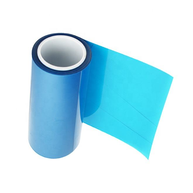 Hot sale strong release force PE Blue protective film