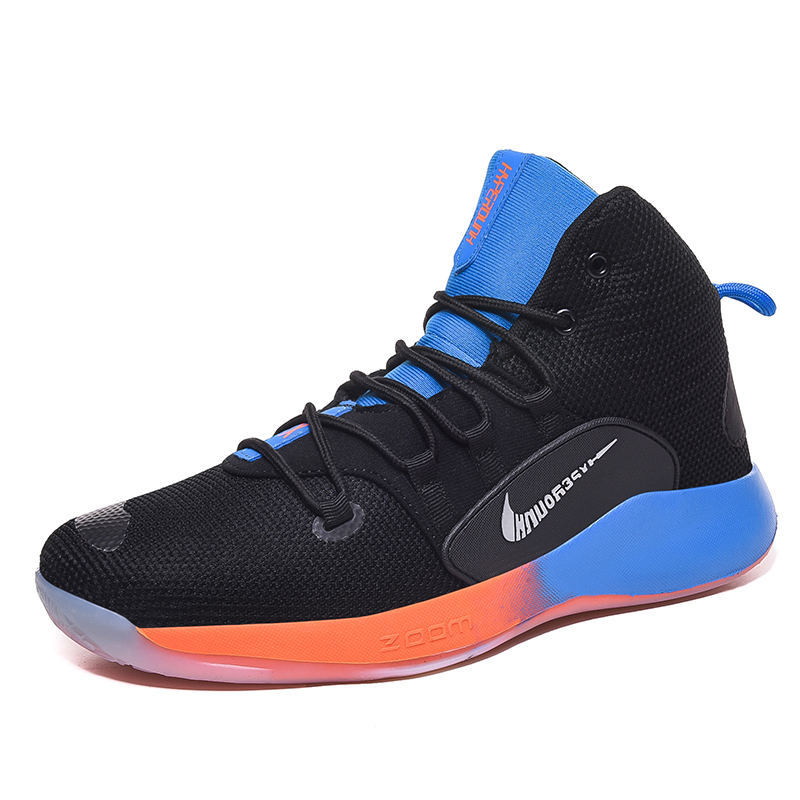 Durable Men And Women Knitted Outdoor Sports Trainers Brand Basketball Shoes High Top Basketball Boots
