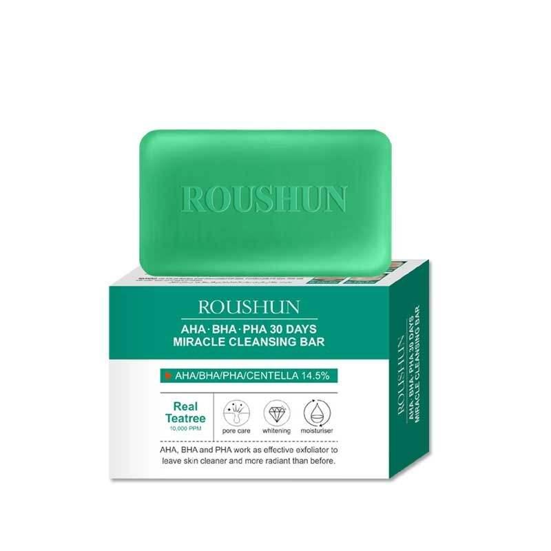 ROUSHUN Aha.Bha.Pha 30Days whitening moisturizing tea tree oil facial & body Cleansing Moisturizing Whitening / Wrinkle Bar SOAP