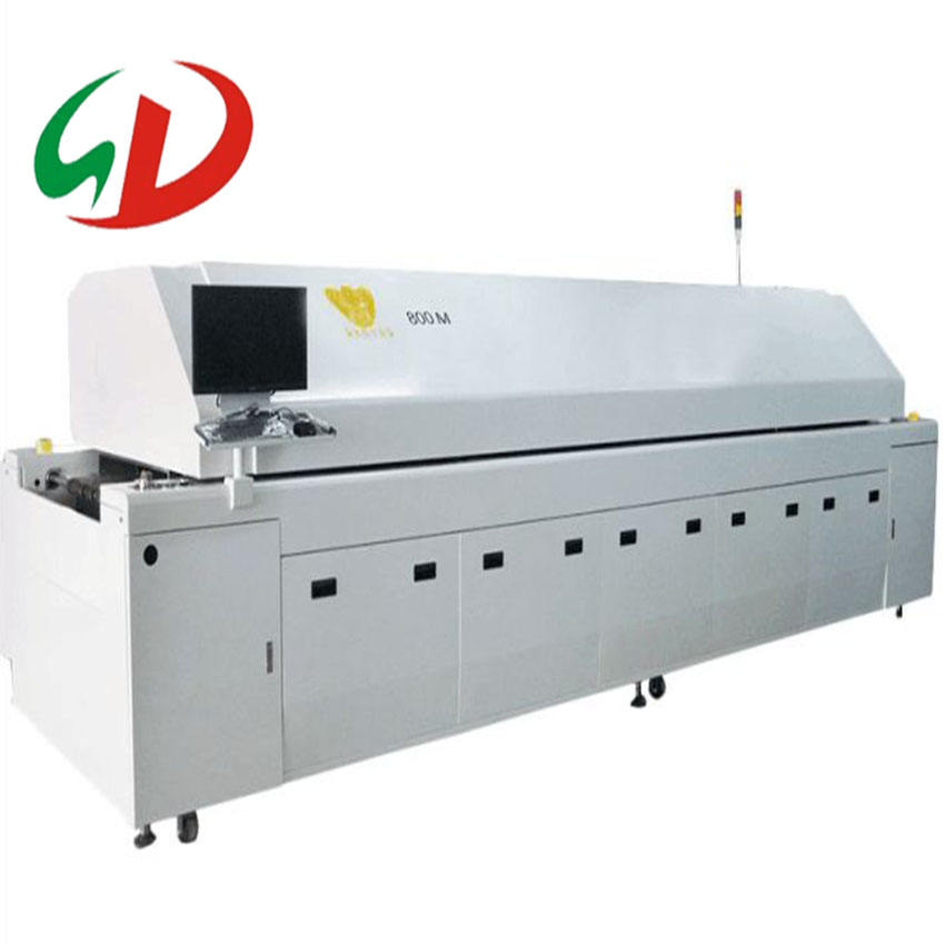 SMT Hot air lead free LED SMT reflow oven for PCB, high accuracy Reflow Oven/ Reflow soldering oven factory price