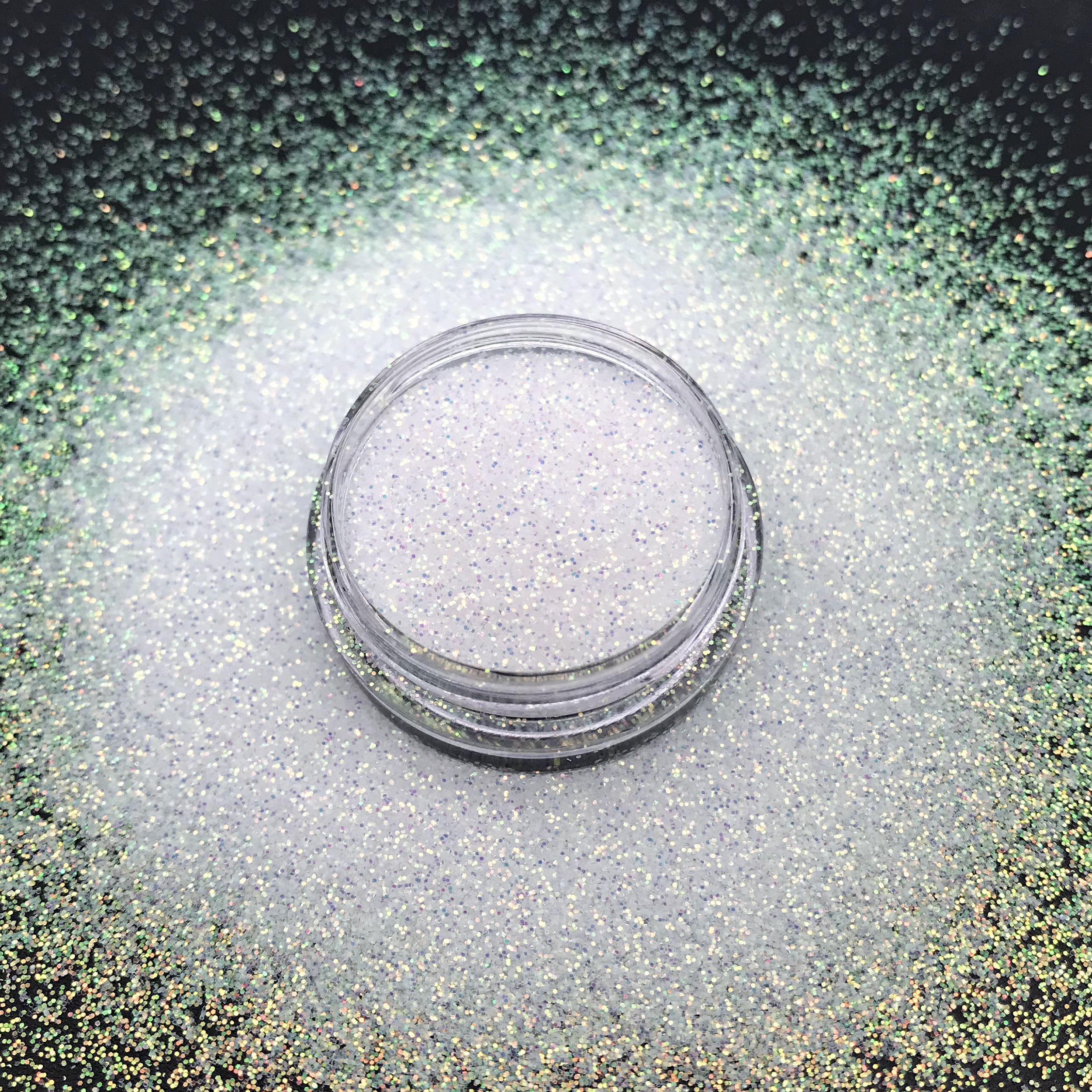 Top Selling polyester iridescent glitter superfine white fine glitter for makeup Crafts
