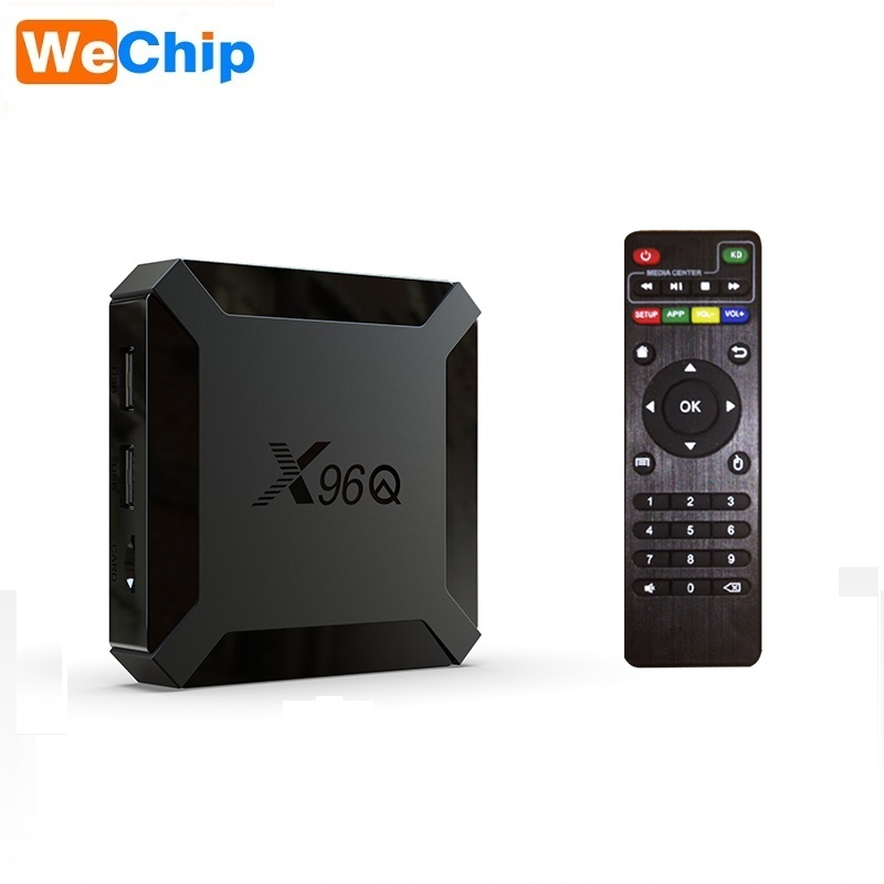 Neue Android 10 X96Q 1GB RAM 8GB ROM <span class=keywords><strong>Allwinner</strong></span> H313 Quad Core Android 10,0 TV Box