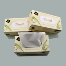 Ultra soft box facial tissue Disposable facial tissue 2ply - 4ply Virgin pulp Bamboo pulp