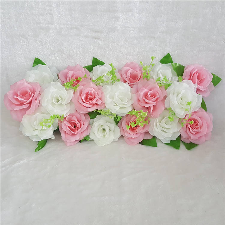 50*20cm Wedding Arch Backdrop Decor Prop Artificial Dahlia Silk Flower Rose Road Guide Party Home Decoration Flower Door Arch