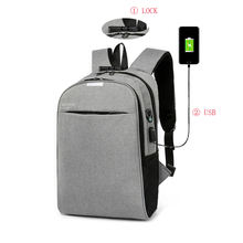 Large Capacity Business travel Nylon waterproof anti-theft USB Charger smart laptop backpack bag With Security Coded Lock