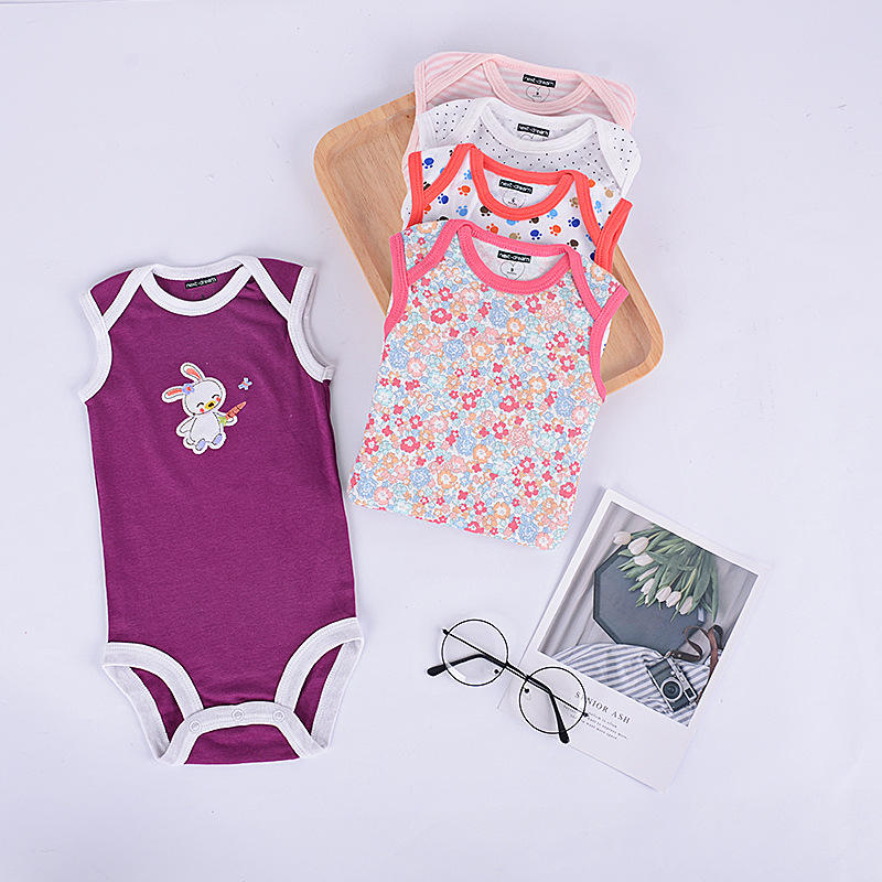 NEWBABY Call My Agent Toddler Cotton Short Sleeves Triangle Romper Bodysuit for 0-24m Baby