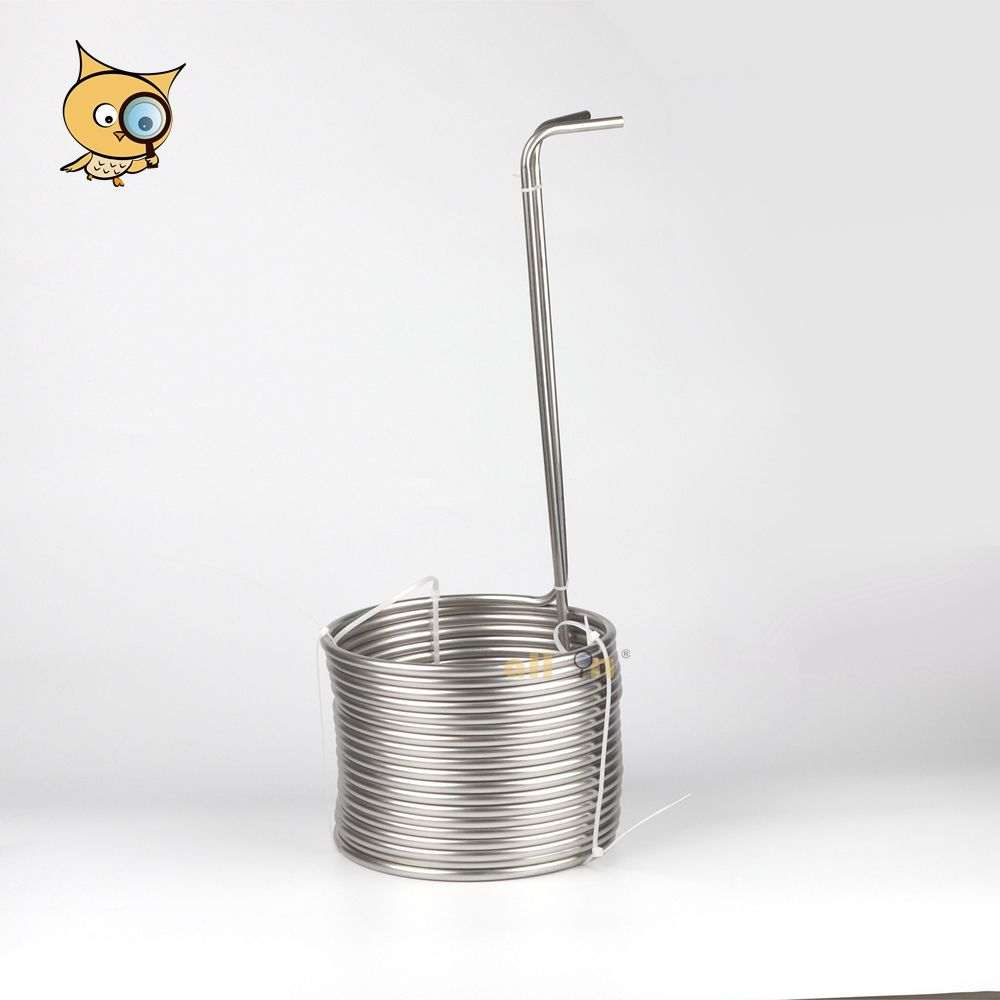 ALL IN Hot Selling 304 Stainless Steel Homebrew Food Grade Tube Heat Exchanger Immersion Wort Chiller 15m Cooling Coil for Brew
