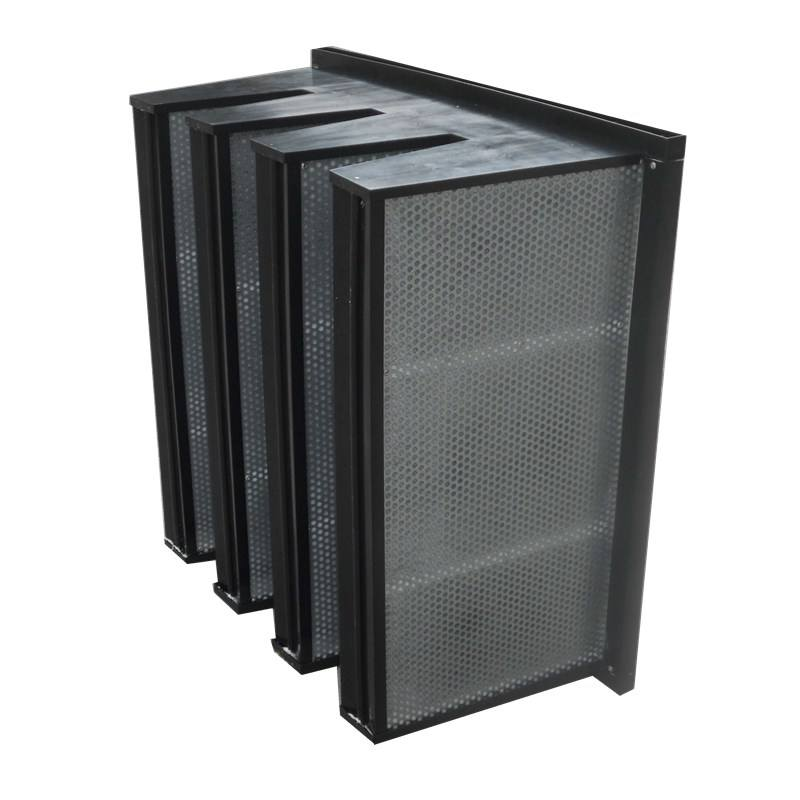 Clean Room Box Hepa Filters V-bank compact 592*592*292 4V Activate Carbon Filter
