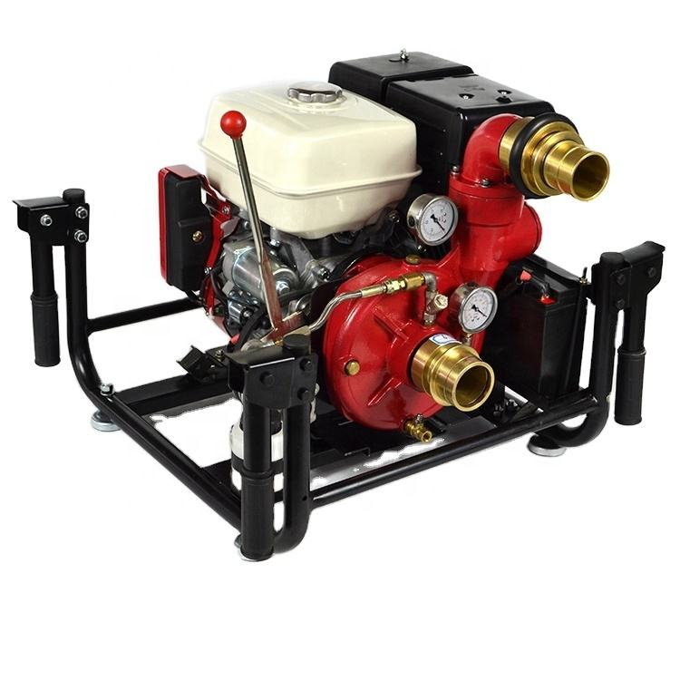 2.5 Inch High Pressure Gasoline Portable Fire Fighting Water Pump Powered By Honda Engine