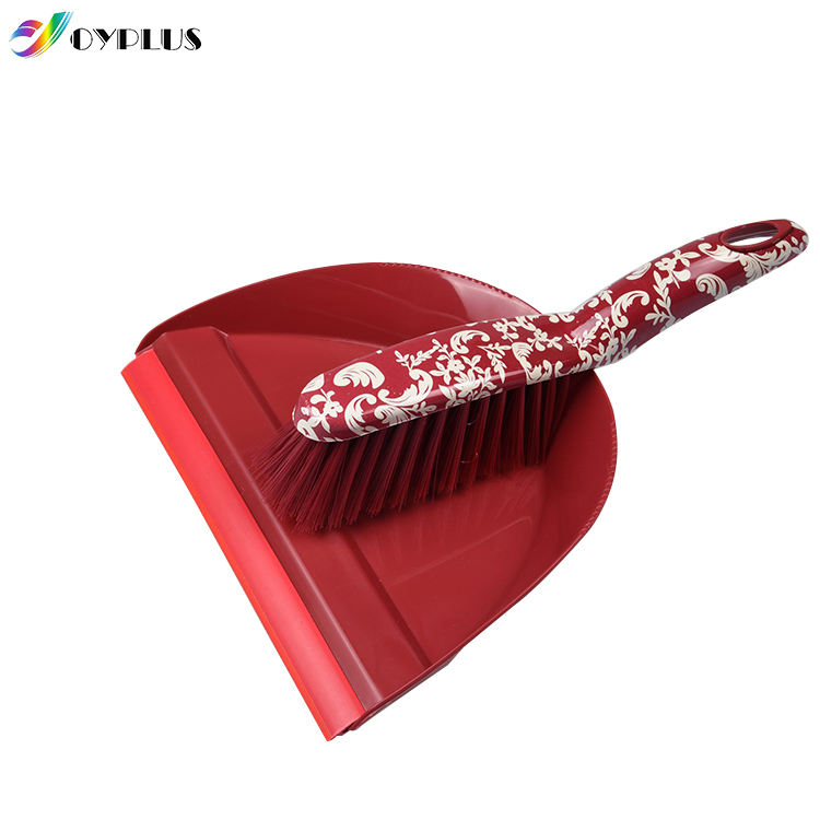 Multi-color plastic small cleaning brush and broom and dustpan set
