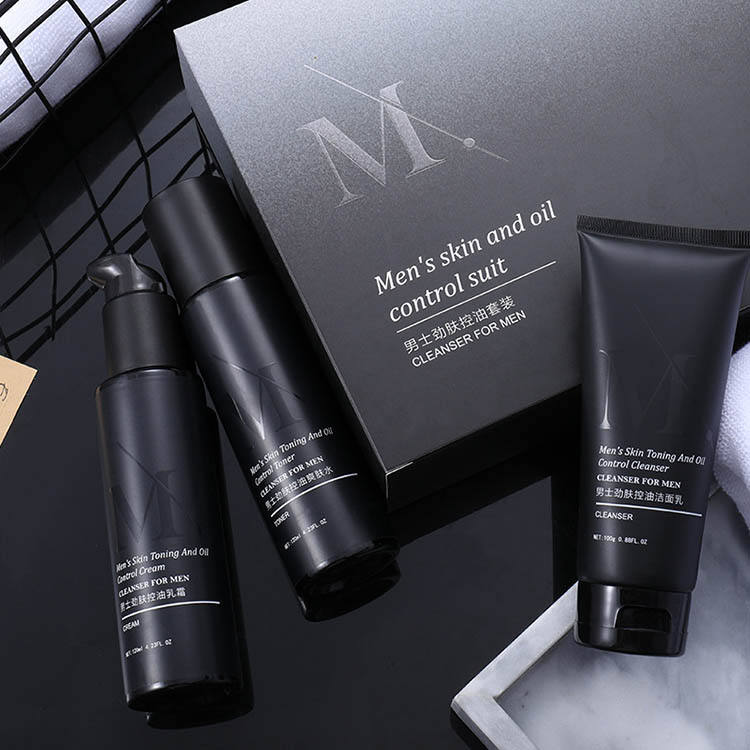 Private Label Mens Skincare Products OEM Korean Cosmetics Men Personal Care Acne Anti Aging Skin Care Set for Men