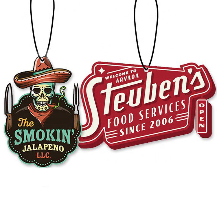 Cheap Promotional Custom Paper Car Air Freshener Hanging