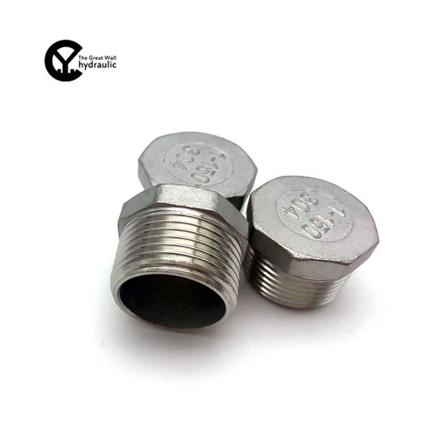 304 stainless steel hexagon plug plug for fire water heating gas pipe fittings hollow solid 316 wire plug