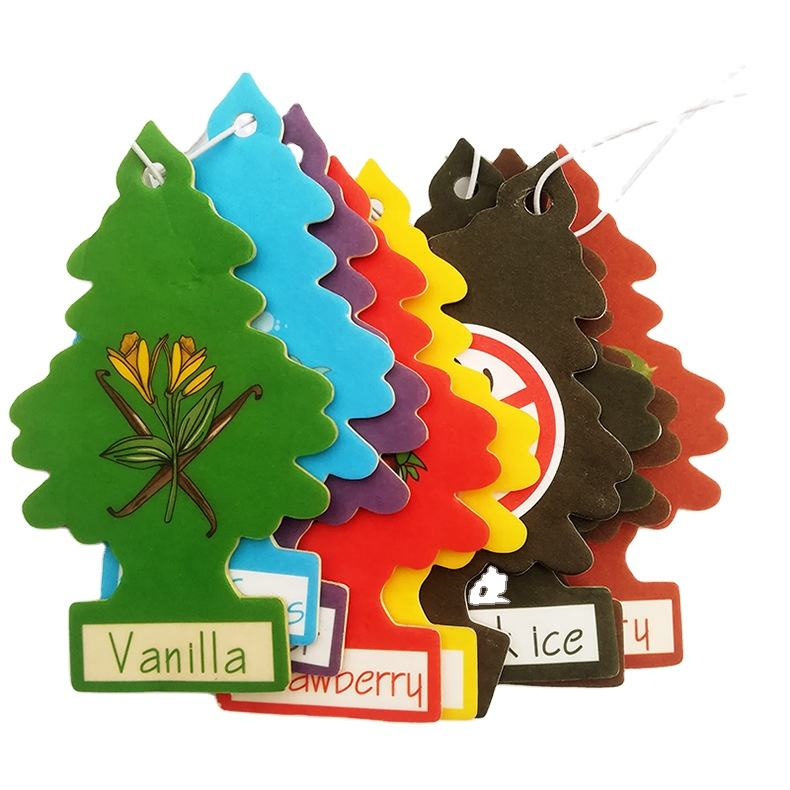 Customized Car Shape Cheap Little Tree Vent Perfume Hangers Diffuser Clip Hang Paper Spray Car Air Freshener