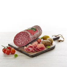 Milano salami. SALAMI pork meat salami ham without allergens