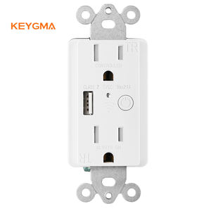 Electrical 125V 15A America Standard 2AC 1USB Port American ETL Listed Smart Outlet Alexa