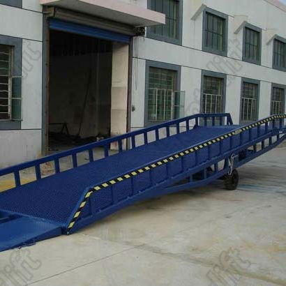 Hydraulic pump dock yard ramp mobile loading yard ramp with high quality