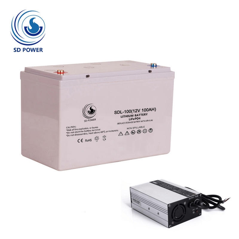 Waterproof pin lithium ion lifepo4 12v 100ah battery for rv/solar Home energy storage