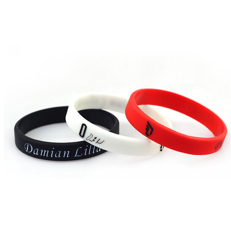 Wholesale Mixed Colors Custom Silicone Wristband Rubber Bracelet