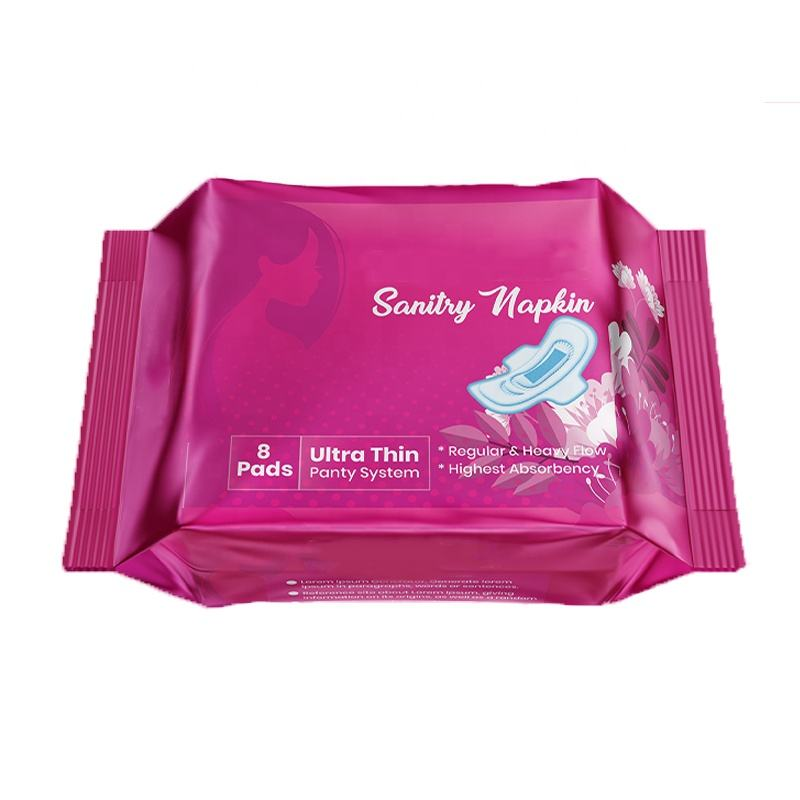 In stock biodegradable sanitary napkin pads herb feminine hygiene product healthy period