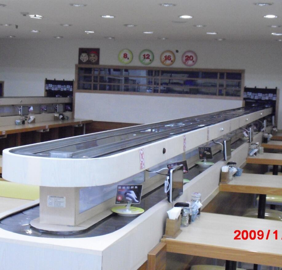 Sushi conveyor with order system