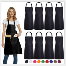 Eco-Friendly Waterproof Polyester Cotton Cooking Apron Logo Custom Kitchen Apron Printed With Pockets