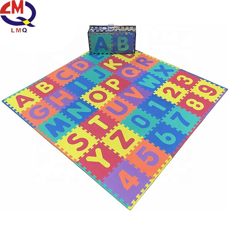 Children's developing play rugs baby play mat number letter cartoon eva foam puzzle mat