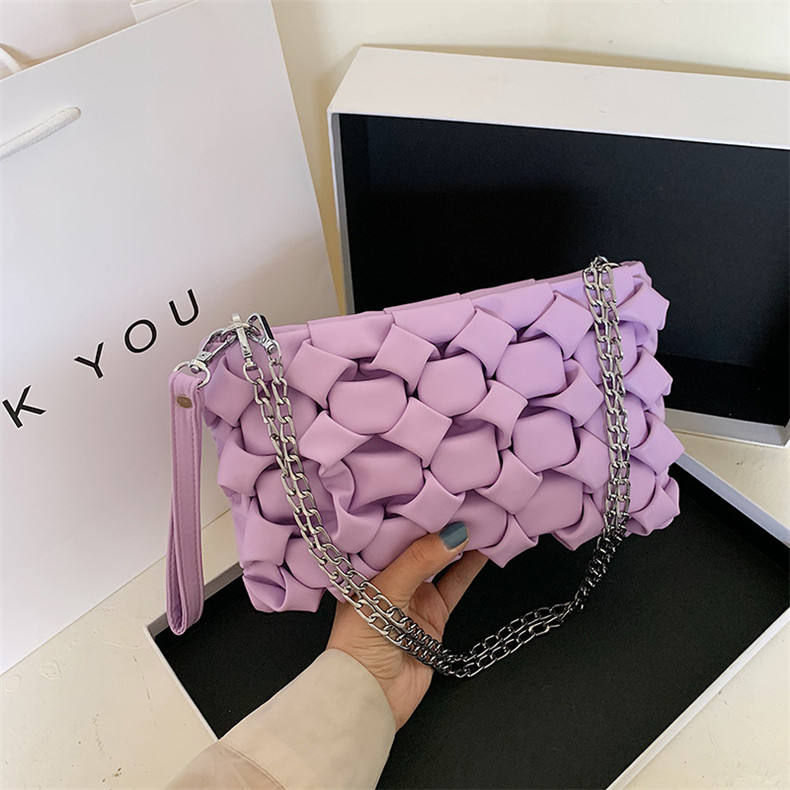 2020 Designer ladies Weave Handbags Female Fashion Knit Clutches Tote hand Bags Women Leather Crossbody Messenger Bags