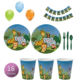 High Quality Party Theme Plate Cup Tableware Supplies Set Decorations Animals