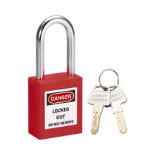 BOYUE Brady 38mm ABS Plastic Safety Lockout Padlock with key lazer marking