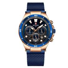 REWARD Business Watch Male New Brand Man Luxury Watch Full Steel watches Men Wristwatch Chronograph
