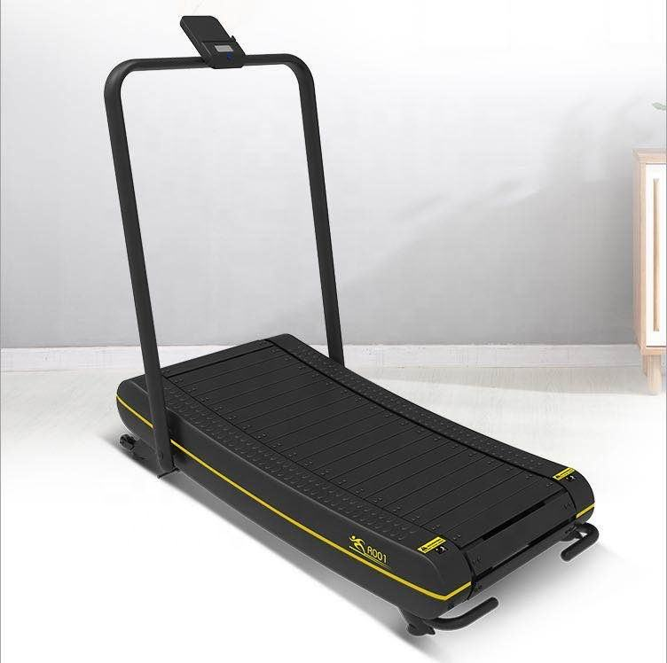 Runsmart New Arrival Factory Directly Low Noise Smoothly Self Generating Woodway home use Manual Curved Treadmill for sale