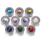Assorted Snap Jewelry Rhinestone Flower Love Heart 18mm Metal Snap Buttons Fit Interchangeable Snap Bracelet