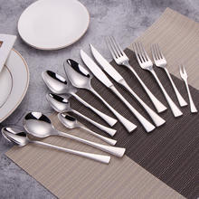 Luxury heavy cutlery 18/8 reusable flatware set stainless steel silverware for restaurant dinner