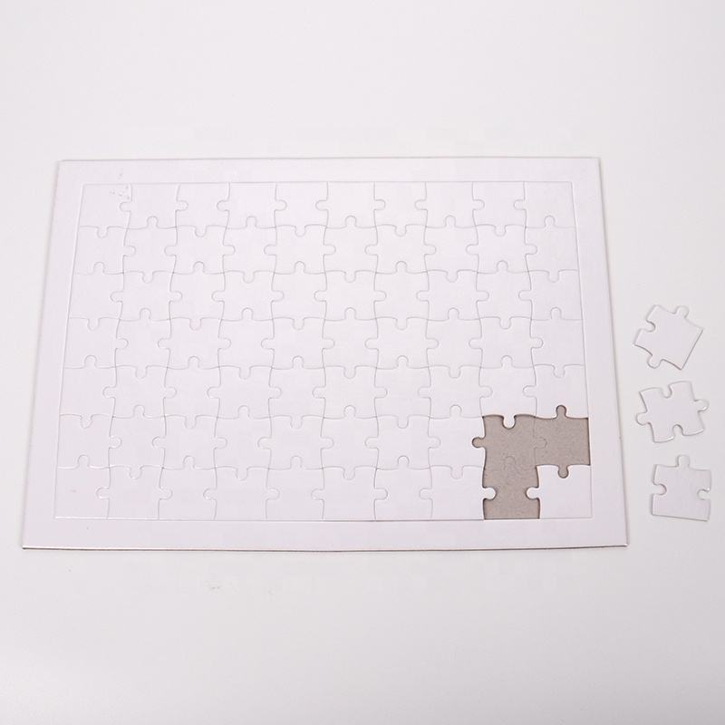 Educational Puzzle Games DIY Printing Sublimation Blank Paper Jigsaw Puzzle