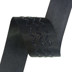 Custom Printed 3 Wave Lines Coated Non-Slip Silicone Webbing Tape