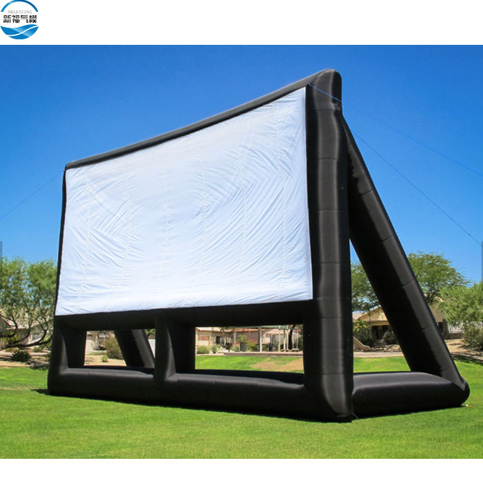Factory customized family outdoor PVC rear projector inflatable movie screen