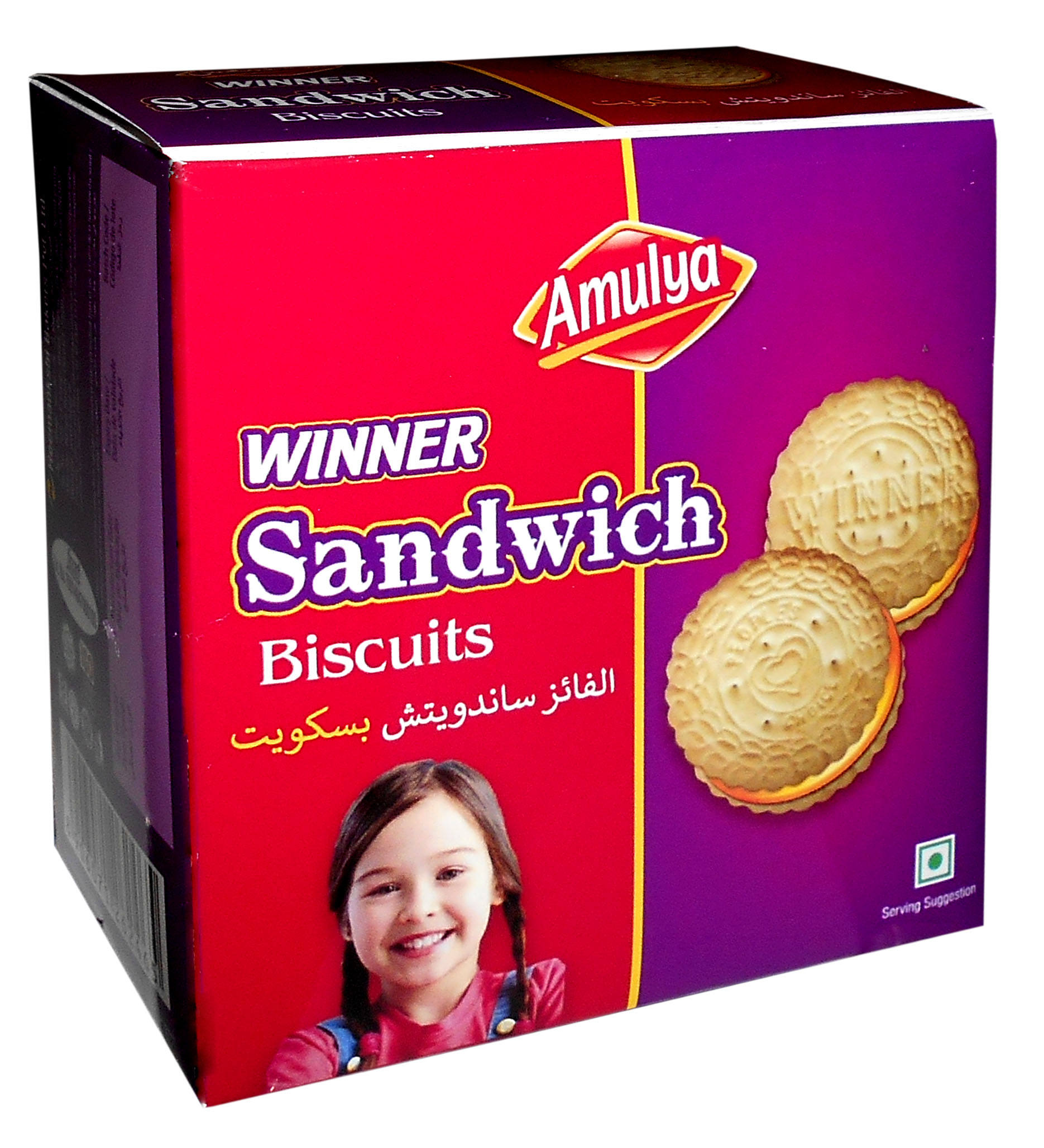 Winner Cream Cookies 100 gram Deliciously Rich Creme filled Sandwich Milk Vanilla Biscuits popular design Fast moving in Somalia