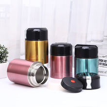 Factory direct stainless steel double vacuum insulation stew cans gift promotion wholesale custom logo portable lunch box