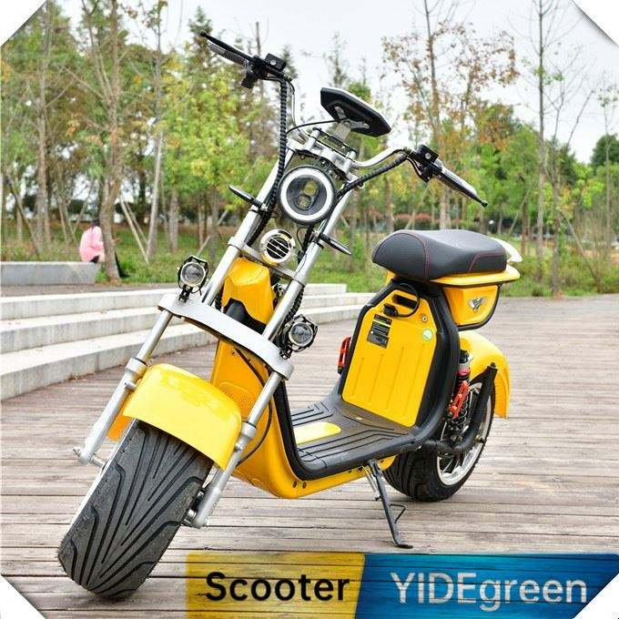 Factory EEC 60Km Range 2 Seats Big Wheels Citycoco Electric Moped 2 Wheels Scooter