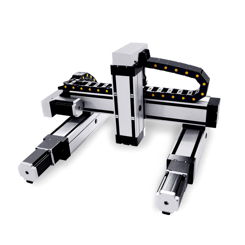gantry type 50-2000mm stroke nema14-23 stepper motorized drive xyz linear stage
