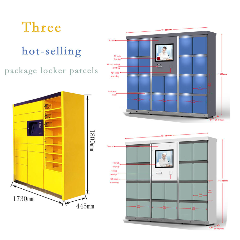 Hot sale parcel locker smart waterproof outdoor parcel locker anti-theft intelligent parcel locker