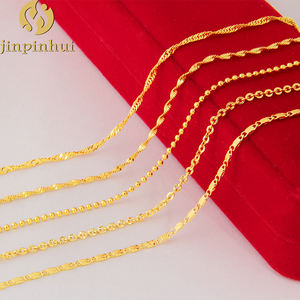 Jinpinhui jewelry hot sale 24k gold chain necklaces for women, dubai new gold chains design